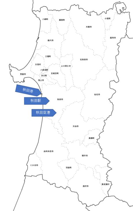 秋田県 地図