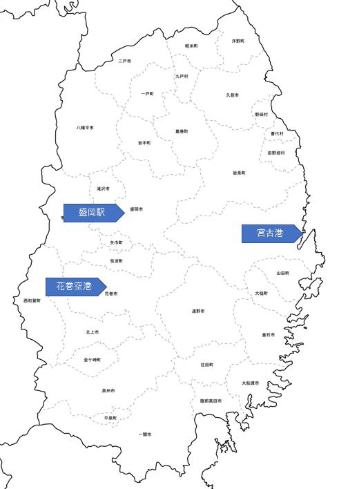岩手県地図