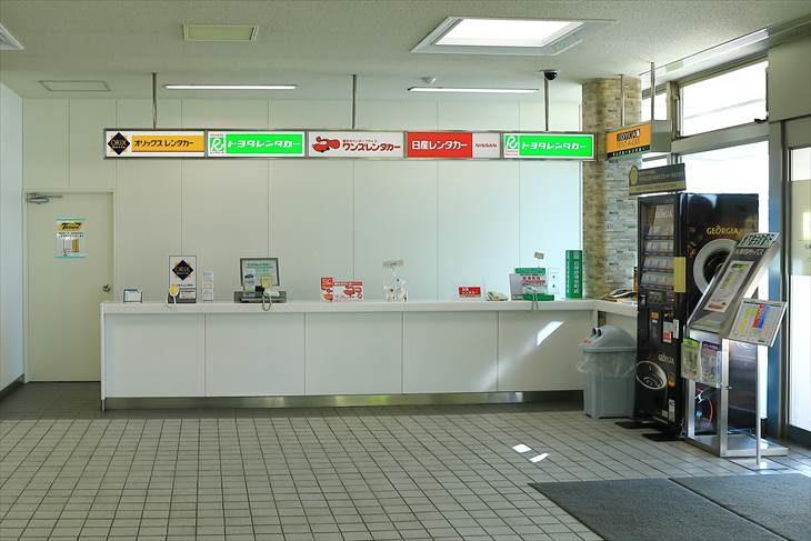 丘珠空港のレンタカーカウンター