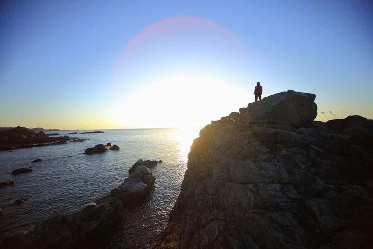 本州最南端からの朝日