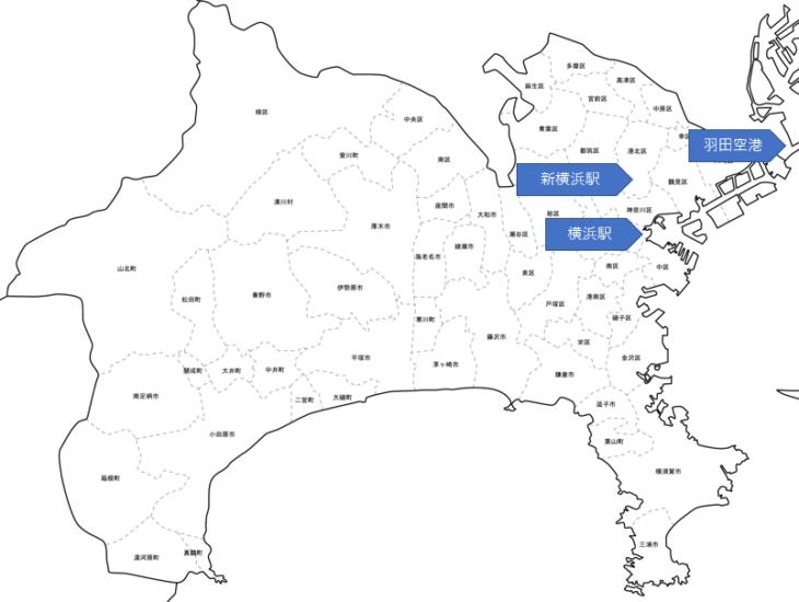 神奈川県地図