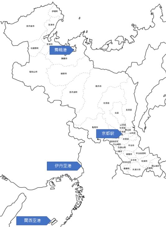 京都府の地図