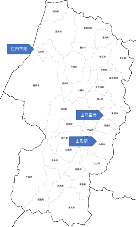 山形県 地図