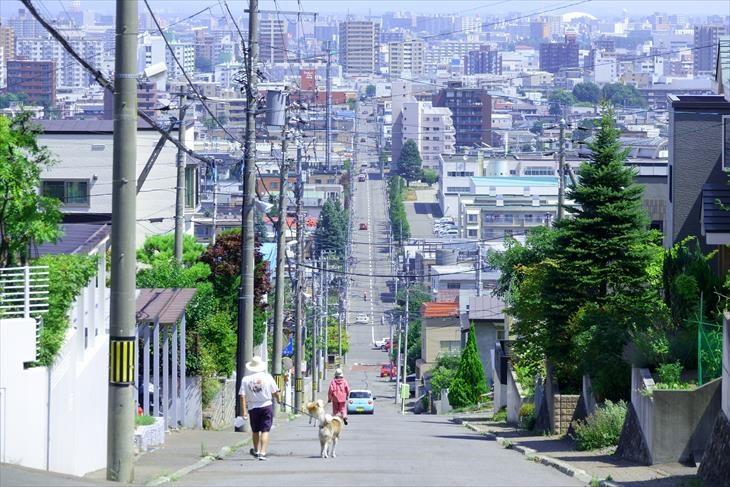 札幌市 かつら坂からの風景