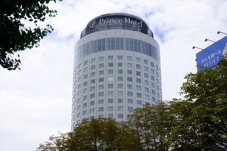 南1条通 から見た札幌プリンスホテル