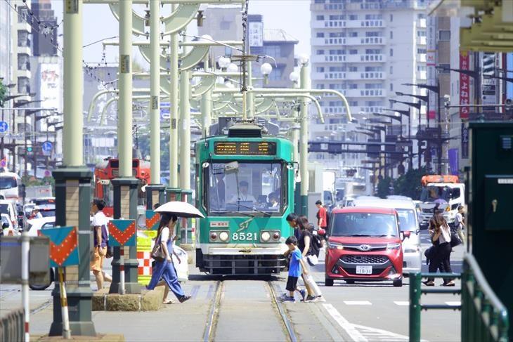 札幌 資生館小学校前駅の路面電車
