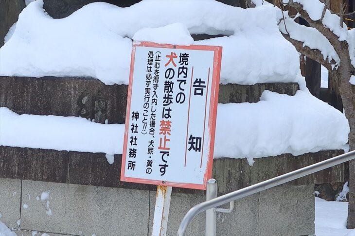 札幌護国神社 犬の散歩禁止