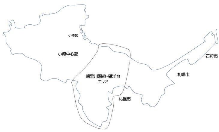 朝里川温泉・望洋台エリアの観光スポット