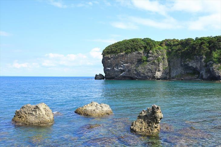 茅柴岬と豊井浜海水浴場
