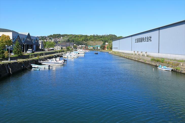 北運河の北浜橋から見た風景