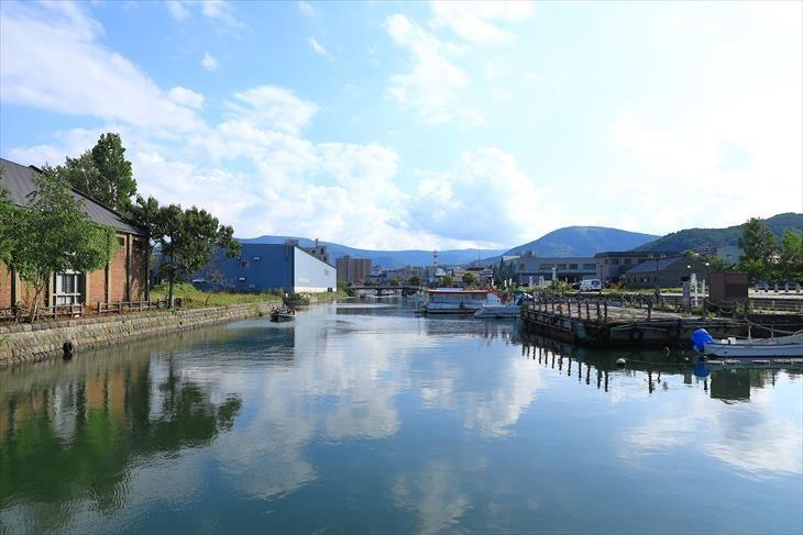 北運河の北端からの風景