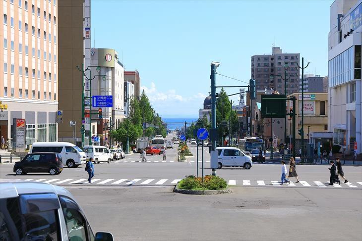 小樽駅からの風景