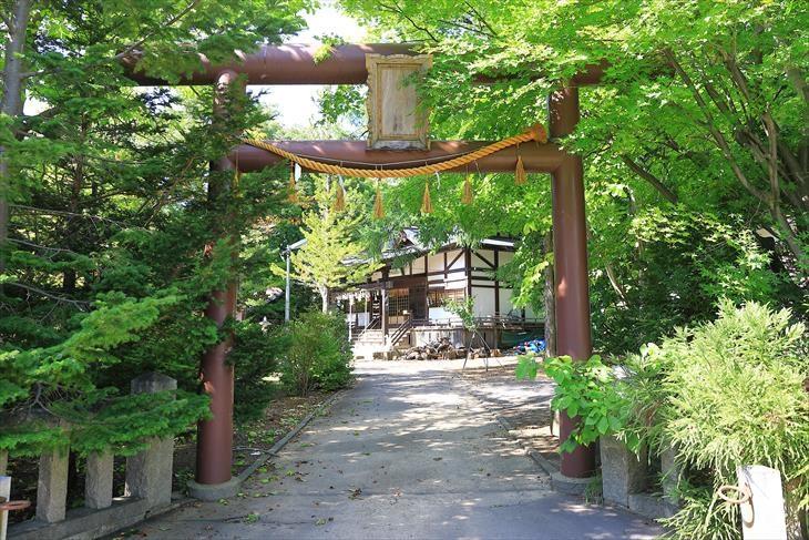 小樽稲荷神社 裏参道の鳥居