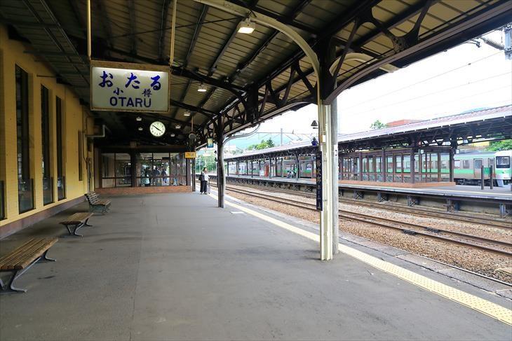 小樽駅 4番ホームから見た1番2番ホーム