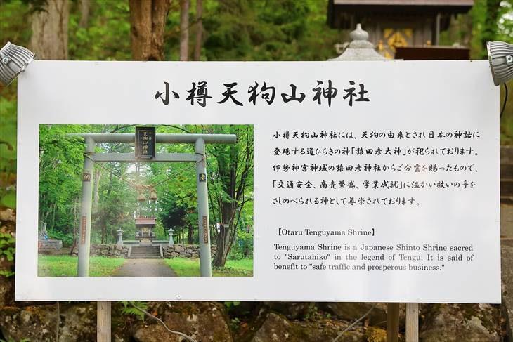 小樽天狗山神社 説明板