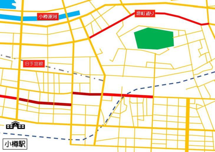 小樽市街地マップ