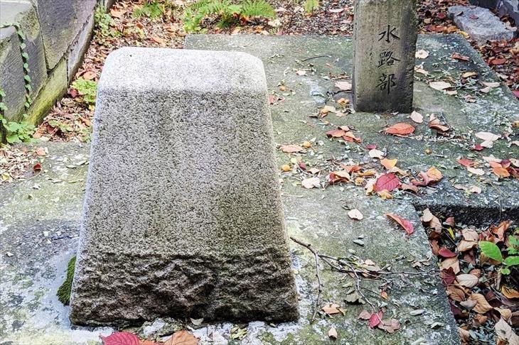 水天宮 旧樺太日露国境中間標石