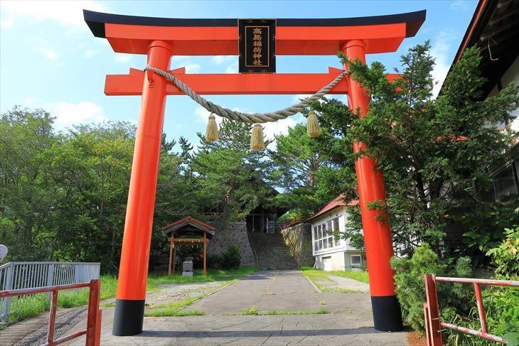 高島稲荷神社 朱い鳥居