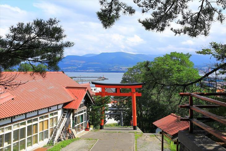 高島稲荷神社 からの風景