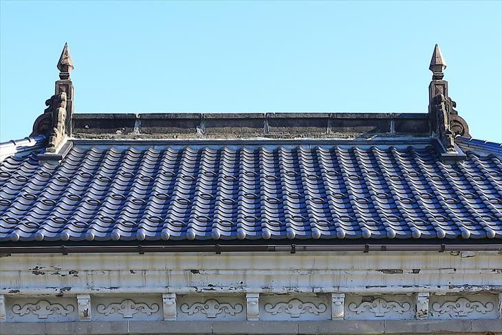 旧第百十三国立銀行小樽支店の屋根
