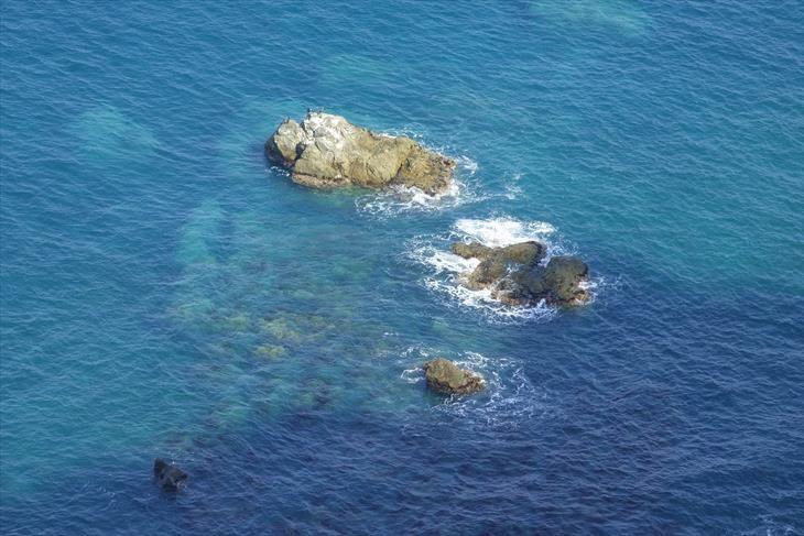 小樽海岸自然探勝路 テーブル岩からの眺め
