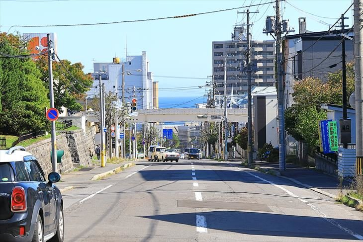 小樽 浅草寺前からの風景