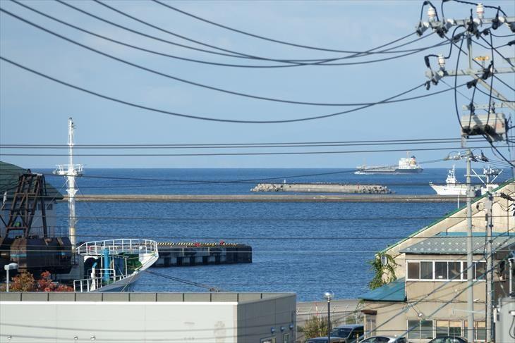 小樽出抜小路の火の見櫓から見た小樽の海