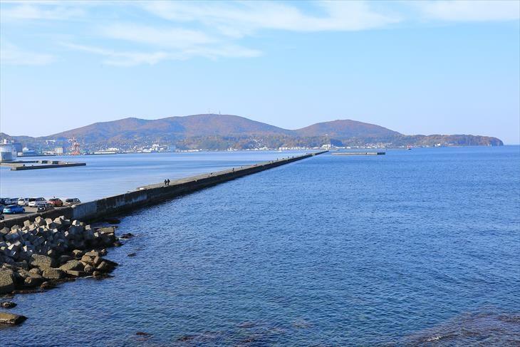 小樽港の防波堤