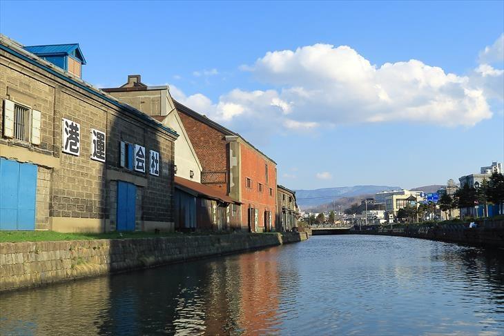 旧篠田倉庫と小樽運河