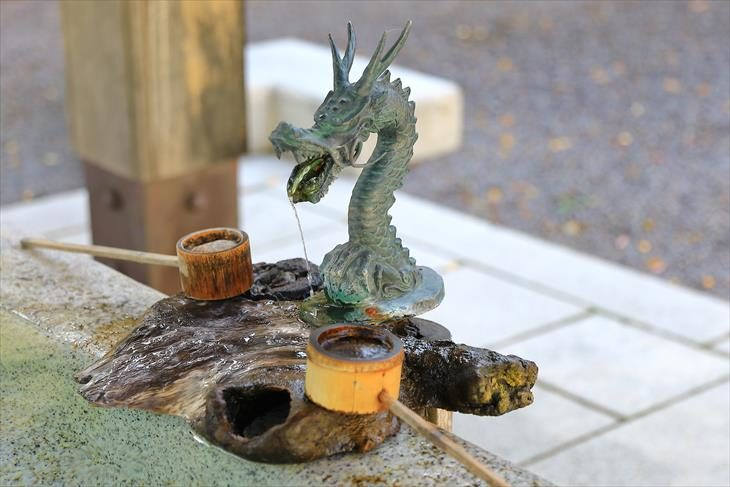 住吉神社 手水舎の龍神様