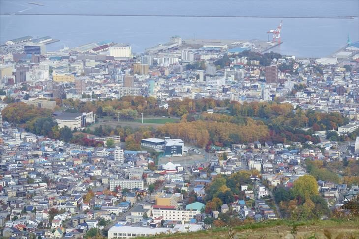 天狗山駐車場からの眺め