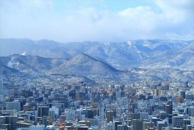 札幌市の遠景