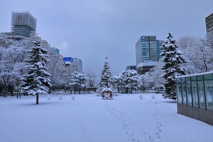 大通公園1丁目 冬の景色