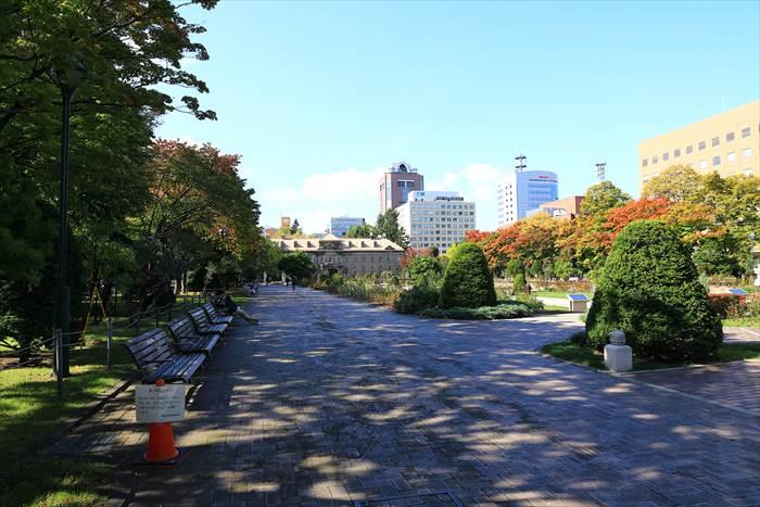 大通公園12丁目の風景