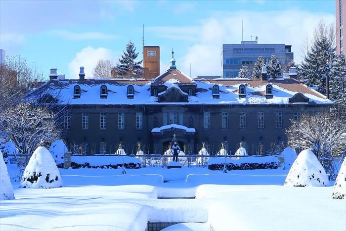 札幌市資料館 冬景色