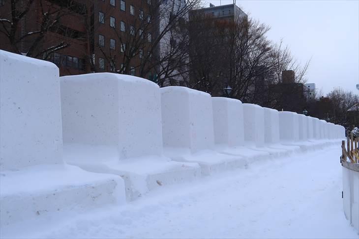 大通公園12丁目の冬
