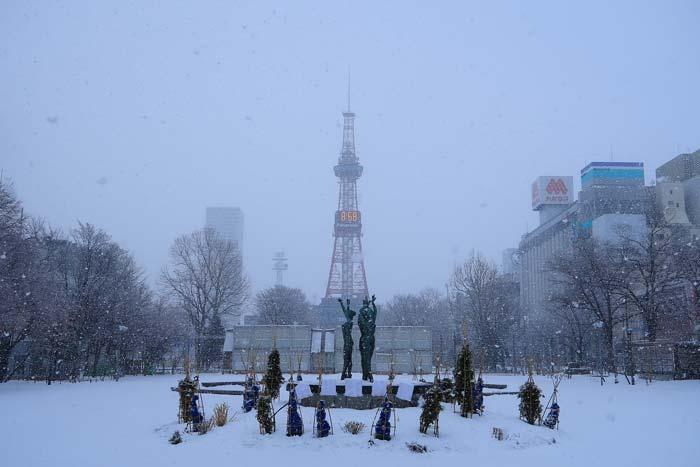札幌大通公園1月