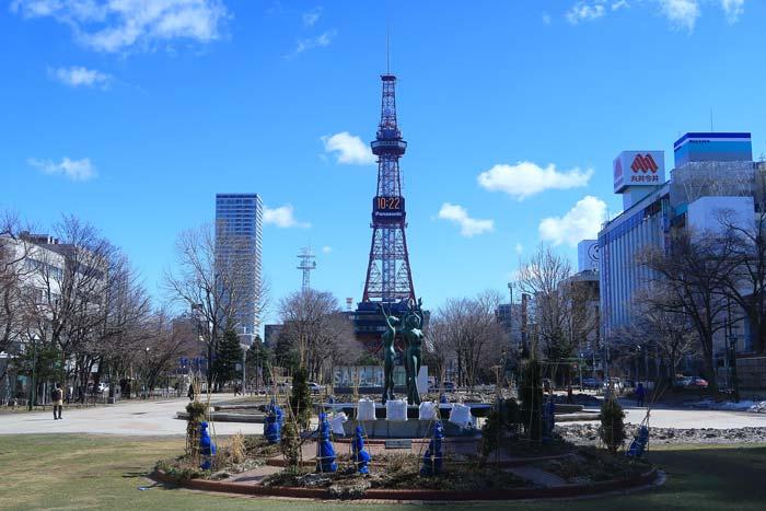 札幌大通公園3月