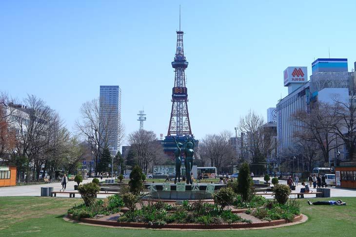 札幌大通公園4月の様子