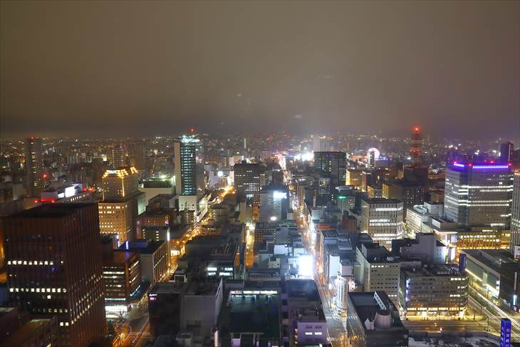 JRタワーホテル日航札幌 34階の客室からの眺め