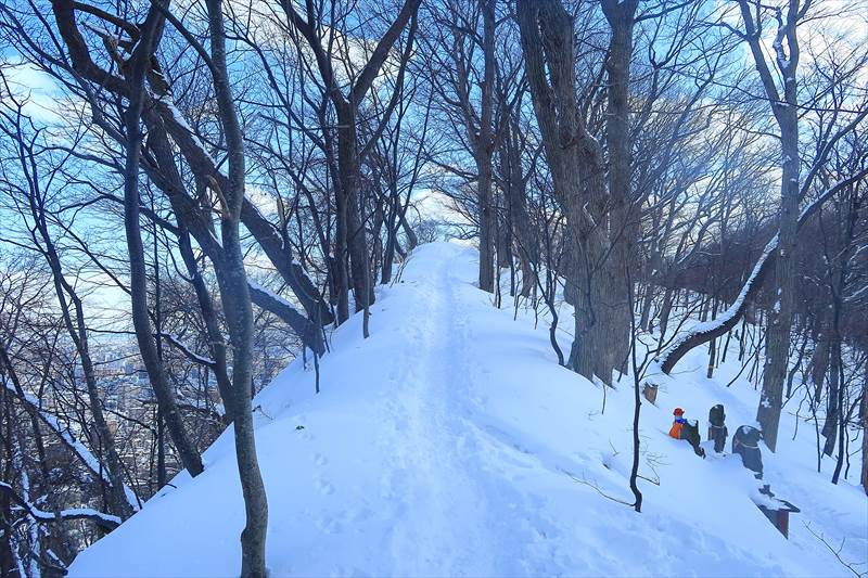 円山 冬山登山