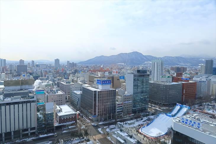 札幌市役所展望回廊 南側の眺め