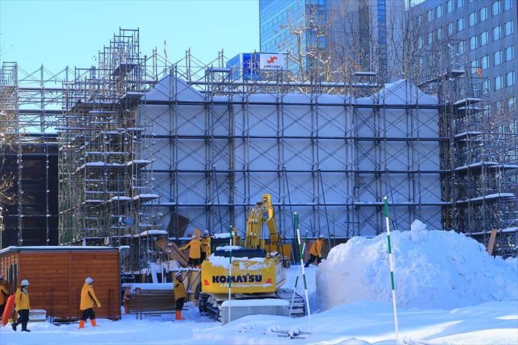 さっぽろ雪まつり【大雪像】ストックホルム大聖堂