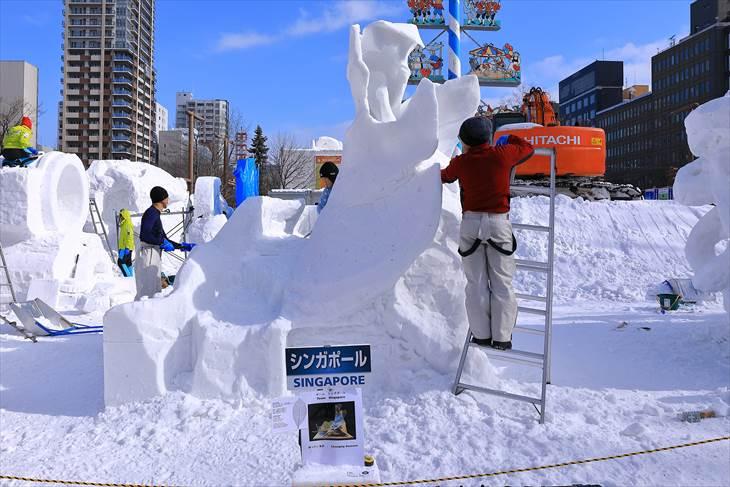 さっぽろ雪まつり 大通公園11丁目の様子