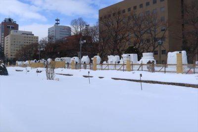 さっぽろ雪まつり 大通公園12丁目の様子
