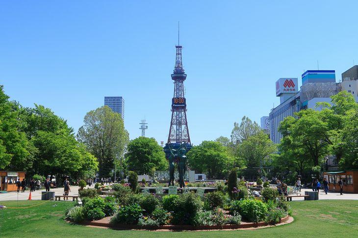 大通公園3丁目からのさっぽろテレビ塔