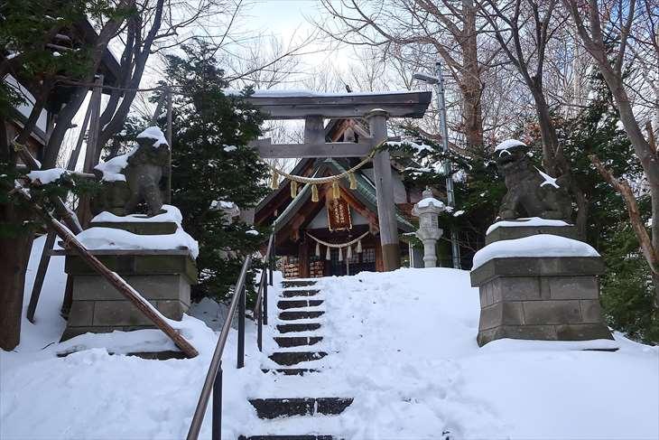 平岸天満宮・太平山三吉神社の冬