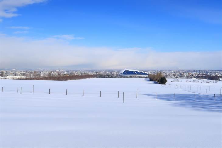 さっぽろ羊ケ丘展望台のクラーク博士遺贈 冬