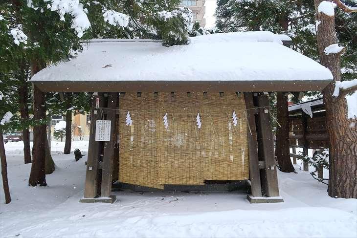 琴似神社の手水舎