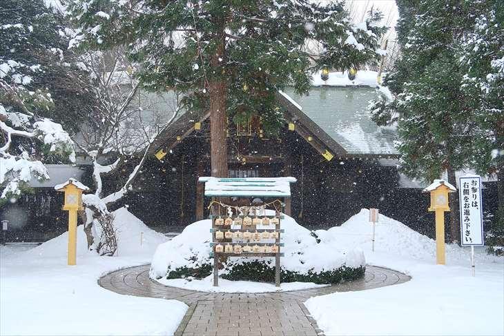 琴似神社の冬
